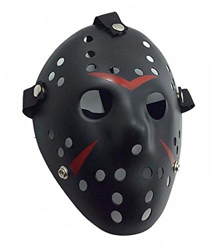 Black Hockey Mask (Nuoka Costume Masks Prop Horror Hockey Halloween Party Mask Black)