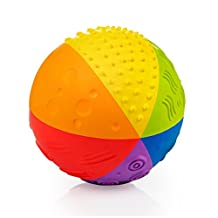 CaaOcho Baby Sensory Ball, Natural Rubber Rainbow