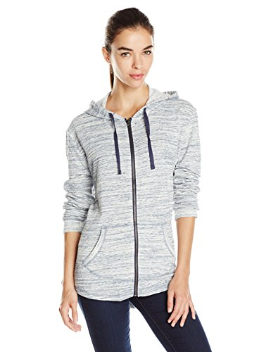 (Hanes Women's French Terry Full-Zip Hoodie, Navy Space Dye, Small)