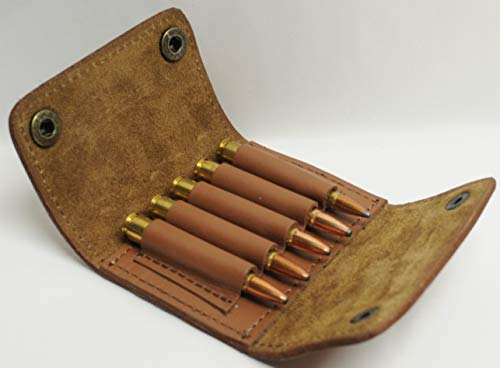 Olson Sports 30-06 270 Rifle Cartridge Pouch for Belt Tan Leather