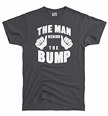 DirtyRagz Men's The Man Behind The Bump Dad to Be Men's T-Shirt