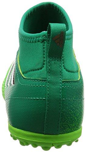 Adidas aCE 17.3TF J–Chaussures montantes de fútbolpara enfants, vert–(Versol/negbas/verbas), 29