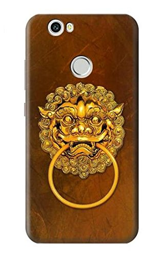 Knocker Door Charm (R2411 Chinese Tiger Head Door Knocker Graphic Printed Case Cover for Huawei Nova)