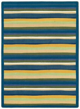 Joy Carpets Kid Essentials Active Play & Juvenile Round Yipes Stripes Rug, Bold, 5-4