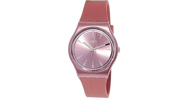 Swatch GP154 Pastelbaya - Reloj de pulsera de cuarzo suizo, silicona, color rosa: Swatch: Amazon.es: Relojes