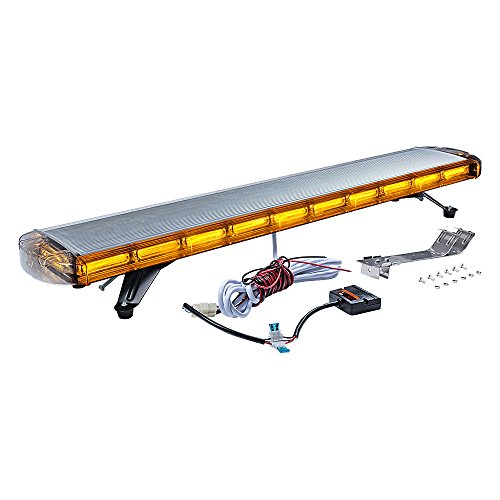 Emergency Warning Work Security Strobe Light Bar Waterproof Kit For Car Truck Tow Plow Snow (47 inch -22 COB Block LED, Amber) ()