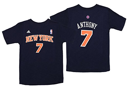 Outerstuff NBA Youth Girls New York Knicks Carmelo Anthony #7 Player's Tee, Navy Large (14)