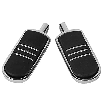 TCMT Chrome Rubber Inlay StreamLiner Foot Pegs Motorcycle Footpeg Footrest Set Fits For 1986 and Newer Harley Davidson Touring and Softail Models, plus most highway pegs that use a male mount.: Automotive