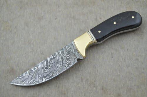 Leather-n-Dagger Professional Custom Handmade Damascus Steel Skinner Hunting Knife LD115