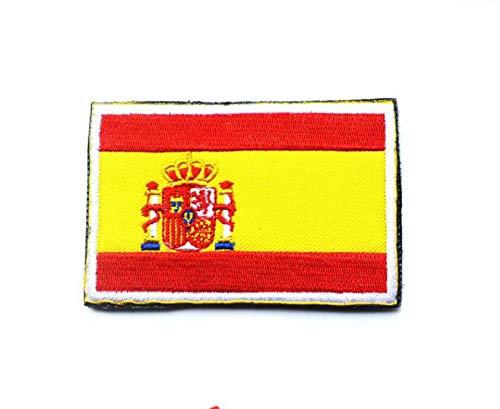 España Español Bandera Gancho Bordado Táctico Placa De Sujeción De Bucle: Amazon.es: Bricolaje y herramientas