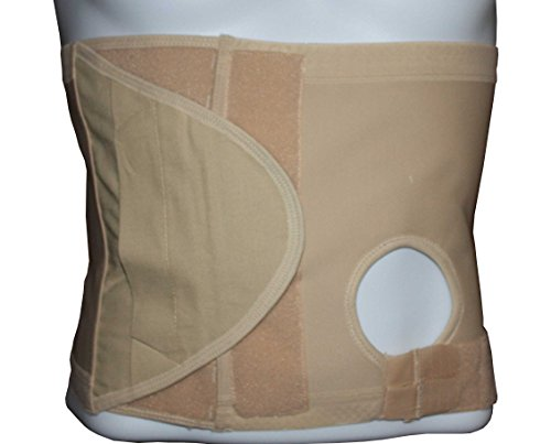 Safe n' Simple Right Hernia Support Belt with Adjustable Hole, 26cm, Beige, Medium by Safe n' Simple