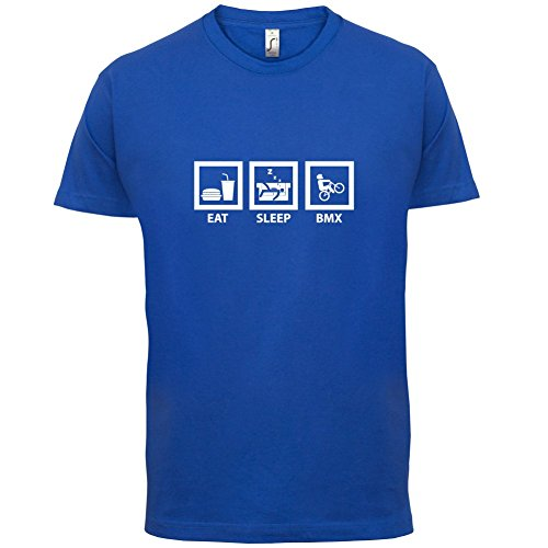 Eat Sleep BMX - Herren T-Shirt - Royalblau - M