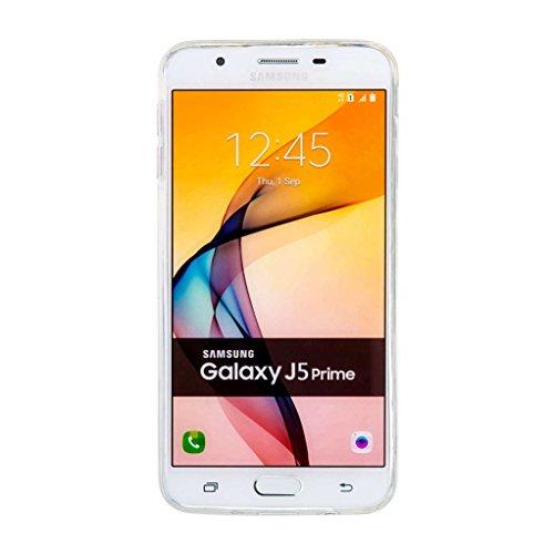 Trumpshop Smartphone Carcasa Funda Protección para Samsung Galaxy J5 (2015) + Oso del bebé de Blanco + TPU 3D Liquido Dinámica Sparkle Estrellas Quicksand Resistente a arañazos Caja Protectora Amor de la Flor