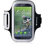 Samsung Galaxy S4 Case, Shocksock [Reflective] [Black] Samsung Galaxy S4 Armband, Sports Gym Bike Cycle Jogging Armband with Dual Arm-Size Slots and Key Pocket Custom Made for Samsung Galaxy S4 - Black