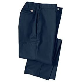 Dickies Occupational Workwear 2112272NV Polyester/ Cotton Relaxed Fit Men's Premium Industrial Multi-Use Pocket Pant with Straight Leg, Navy Blue