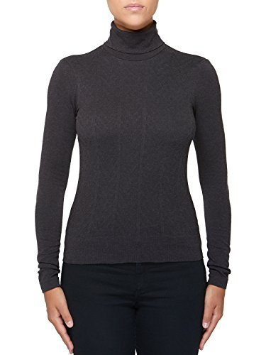 Pull Manches Coutures Perspirant Femme Sans Seamless Made Laine Longues Sensi' In Graphite Italy Viscose Col Roulé 1dTnB1Wwq