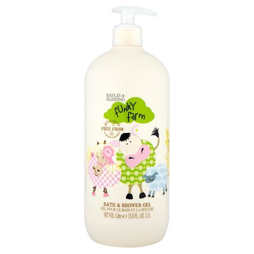 Baylis & Harding Funky Farm Bath and Shower Gel, 1 Litre, Pack of 4 FFBSGLTR