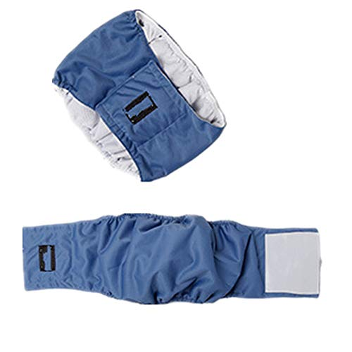Belly Dog Band Seasons - Fully 2X Dog in Season Heat Nappy Incontinence Protective Pants Diapers Male Dog Physiological Belly Bands Wrap (M: Waist: 35-42cm/13.77-16.53