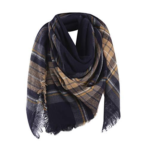 Muranba◕ᴗ◕ Scarf Muffler Shawl Neckerchief Muffle Women Blanket Color Matching Winter Chunky Wrap Oversized Cape