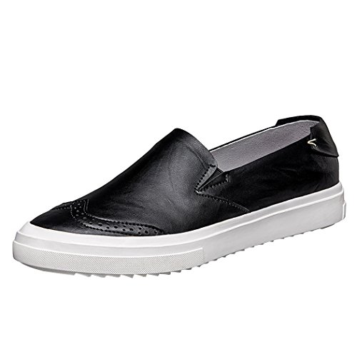 Snowman Lee Mens Brock Leather Lightweight Casual Boat Shoes