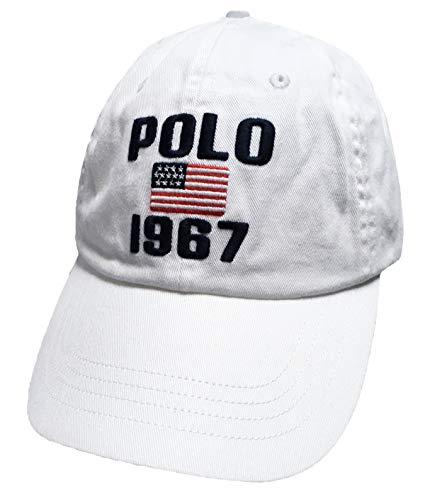 Polo Ralph Lauren Mens Baseball Hat (One Size, White/Navy/1967)