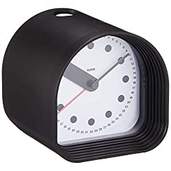 Alessi Aleesi 02 B Optic Alarm Clock, Black