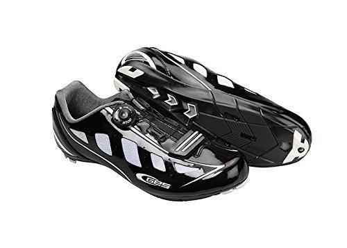 Manufacturas Ges velocidad carretera zapatos negro/blanco