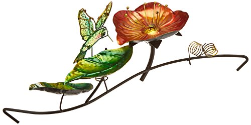 Continental Art Center CAC40079 16.93 by 9.45 by 5.51-Inch Hummingbird Fountain with Plug-In Pump for 18-Inch Glass Bird Bath by Continental Art