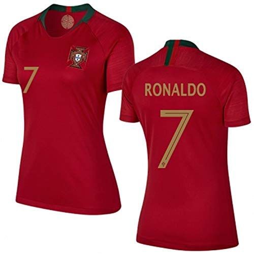 Cristiano Ronaldo #7 Portugal Women's Soccer Jersey Home Short Sleeve Adult Sizes (M, Ronaldo 7) ()