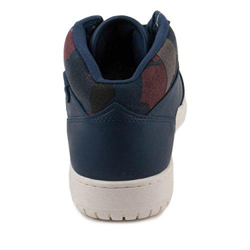 Lacoste Mens Wytham Gpm Blu Blu / Blu Navy-pelle Scamosciata Bordeaux