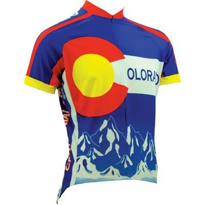Canari Cyclewear Men's Colorado Short Sleeve Cycling  Jersey (Cobalt, (Colorado Cycling Jersey)