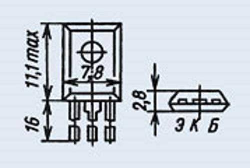 Transistor Silicon KT644B analogue BC527-10, BD386, PN2906 USSR 20 pcs
