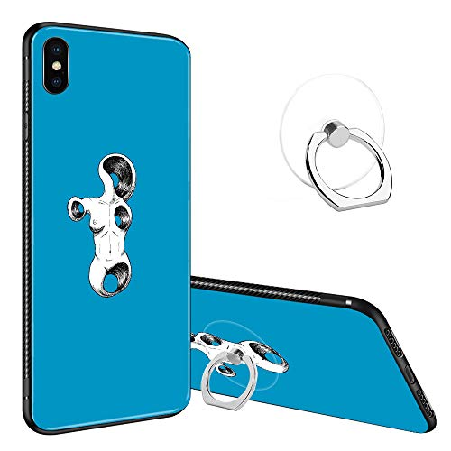 - iPhone XR Case Tempered Glass Back Cases, Fashoin Design Wormhole Front Soft TPU Bumper Frame Case for Apple iPhone XR