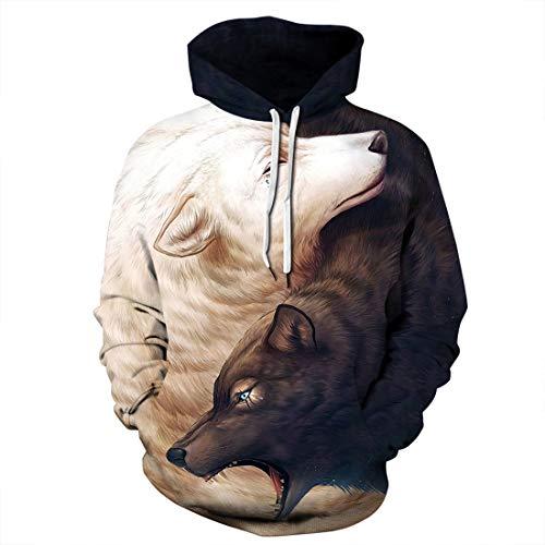 Hoodies Lion 3d Cordon Kangourou Pullover Numérique Animal Avec Graphique Style4 Unisexe Et Hoody De Imprimé Sweatshirts Pochette Memoryee Loup Creative Réaliste Tête qaPxUv8n