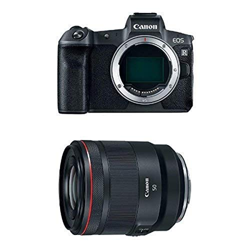Canon EOS R Mirrorless Digital Camera (Body Only) and RF 50mm f/1.2L USM Lens, Black