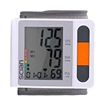 Wrist Digital Blood Pressure Monitor iClight scian Blood Pressure Monitor 2x90 Memories with IHB and WHO Indicater LCD Display