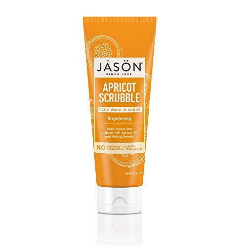 - JASON Brightening Apricot Scrubble Face Wash & Scrub, 4 Ounce Bottle