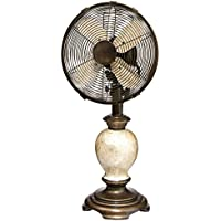 CC Home Furnishings 24 Stylish Bronze Base and Neck with Mother-of-Pearl Body Oscillating Table Top Fan