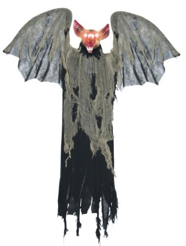 [48in Animated Bat with Wings Prop] (Vampire Prop With Wings)