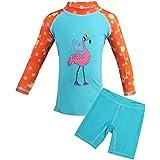 rosport Girls Tankini Swimsuits Long Sleeve Swimsuit UPF 50+ UV Blue L
