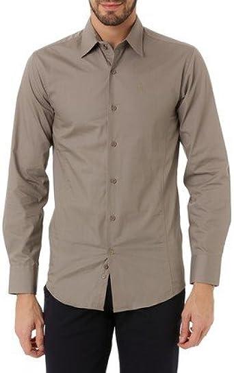 J.BRADFORD Camisa Tejido Gris Eden - Color : Topo, Talla Camisas - T3: Amazon.es: Ropa y accesorios