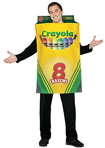 UHC Unisex Tunic Shaped Like Crayola Crayon Box Funny Theme Halloween Costume, OS