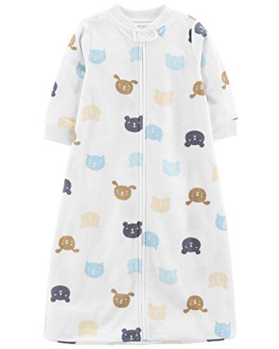 Carter's Baby Infant Microfleece Animal Sleepbag with Cats, Dogs and Bears (Boys, Medium) ()