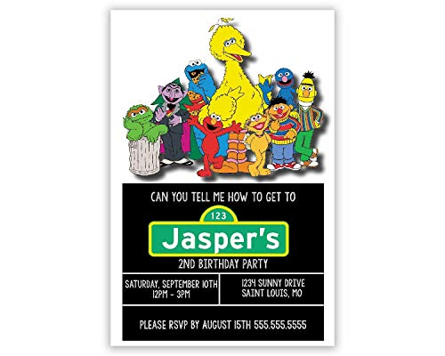- Sesame Street | Birthday Party Invitation | Personalized