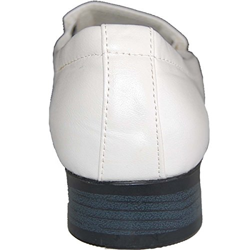 SHOE ARTISTS White Leather Lined Slip Ons dV6joBsT