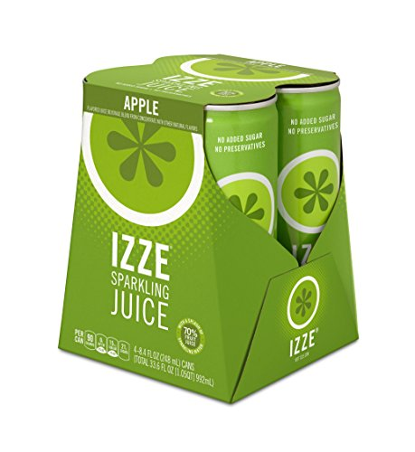 IZZE Sparkling Juice, Apple, 8.4 oz Cans, 4 Count