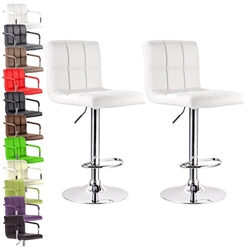 Woltu Absx1001whi Furniture Bar Stools Swivel White Bonded