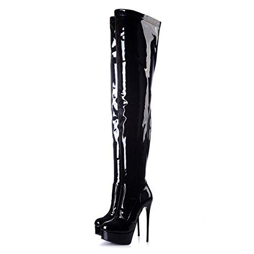 große Schwarz Galana Overknee 1004 Übergrößen Giaro Damenschuhe Stiefel in U0ZB6wZqa
