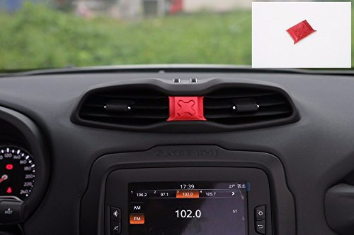 Nicebee Red Air Vent Trim Cover Interior Accessories Parts ABS For Jeep Renegade 2015 2016