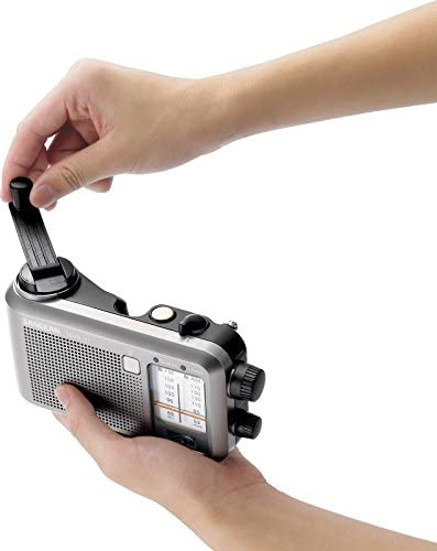 Sangean Compact Emergency Water-Resistant Hand Crank AM FM Radio with Built-in Speaker